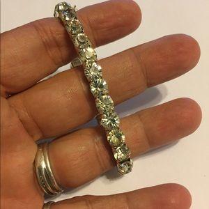 Vintage Rhinestone Stretch Bracelet MINT